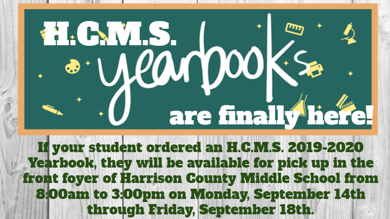 HCMS Yearbook Pickup
